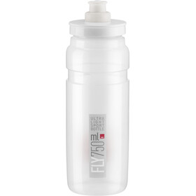 Elite Fly Team Bidon 750ml, clear/grey logo